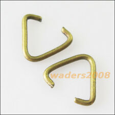 70 New Connectors Gold Silver Bronze Plated Triangle Jump Rings Bails 10.5x11mm