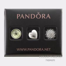 Authentic Pandora Silver August Peridot & Clear CZ Petites 792091PE