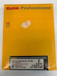 Kodak Professional 25 5x7 Sheets Polycontrast III RC Glossy Paper B&W SIP
