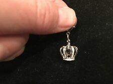 Crown w/Swarovski Crystals Dg 4066 Origami Owl Dangle (new) Silver Pave