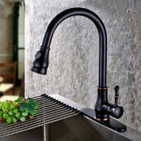ORB Kitchen Pull Out Spray Swivel Spout Basin Sink Deck Mount Mixer Faucet Taps