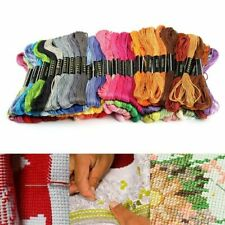 100 Colors Cross Stitch Cotton Embroidery Thread Sewing hot Skeins Floss se X7O7