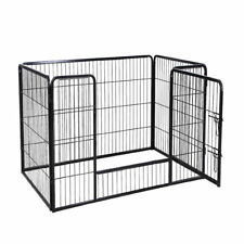 Extra Large 4 Sided Heavy Duty Pet Puppy Playpen Crate Pen Welping Dog Cage DCUK