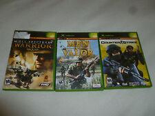 XBOX GAME LOT OF 3 GAMES COUNTER STRIKE MEN OF VALOR FULL SPECTRUM WARRIOR VALVE