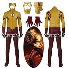The Flash Kid Flash Cosplay Costume Full Set Halloween Costume with Mask