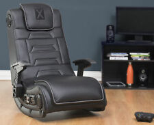 4.1 WIRELESS Audio GAMING CHAIR BLACK X Video Rocker Pro Series H3 ADULT TEENS