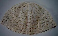 Vintage Fancy Crochet Lace Bonnet Hat Irish Estate Find