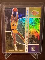 2019 Donruss Optic Kareem Abdul Jabbar Holo Prizm Winner Stays Insert Lakers