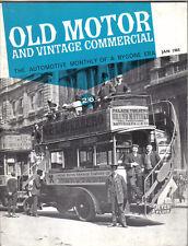 Old Motor + Vintage Commercial Jan 65 Vol 3 No 7 Storey Adams London Motor Bus +
