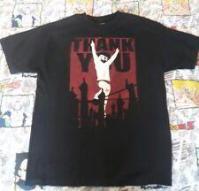 "Daniel Bryan ""Thank You"" Yes Retirement Black WWE Authentic T-Shirt L"