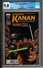 Kanan: The Last Padawan #1 2nd Printing CGC 9.8 White! Star Wars! Ezra! Sabine!