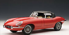 JAGUAR E-TYPE ROADSTER SERIES I 3.8 in RED AUTOart in 1:18 Scale