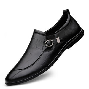 Men's Shoes Slip On Round Toe Loafers Soft Comfortable Breathable Casual Shoes