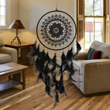US Black Lace Dream Catcher Feather Car Wall Window Hanging Home Ornament Gift