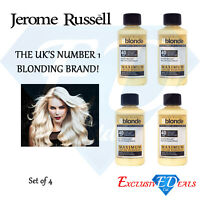 4 x 75ml Jerome Russell Bblonde Cream Peroxide Maximum Lift 40VOL & 12% Peroxide