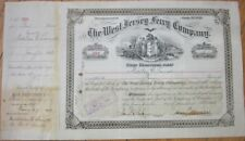 1893 Stock Certificate: 'West New Jersey Ferry Company' - Camden, NJ