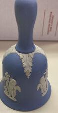 Wedgwood Blue White Cherubs Bell Euc
