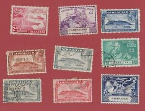 Gibraltar George V and George VI mostly used assorted (with duplicates)