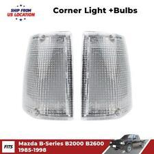 K1AutoParts Front Corner Side Light Signal Lights White Color Lens For Mazda Magnum B2000 B2200 B2600