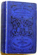 MANUALI BARBERA SUPINO SCIENZE ISTITUZIONI DIRITTO COMMERCIALE 1898