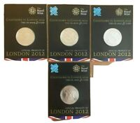 2009-2012🔹️Complete Set London Olympics 4x £5 Pound Coin GB UK