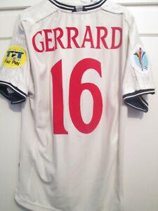 England Gerrard 16 1999-2001 Home Football Shirt Size Large /48182 Euro 2000