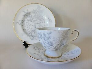 "Tuscan China ""Woodside"" Tea Trio, Vintage 1940's Tea Cup, Saucer & Plate Set"