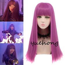 Descendants 2 Mal Cosplay Wig Long Purple Adult Women Fashion Costume Party Wig