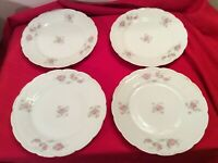 """VINTAGE Eagle China Austria 8 3/8"""" PORCELAIN Luncheon Plates with Roses Set of 4"""