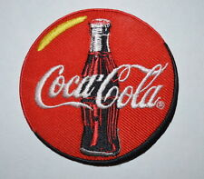 #682 COCA COLA ROUND RED Embroidered Iron On /sew on Patch