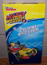 Valentines Day Cards (Box of 32) Disney Junior Mickey And The Roadster Racers