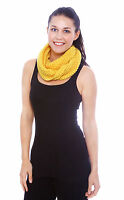 Women Winter Warm Knitted Infinity Scarf Loop Neck Plain Shawl Wrap Circle Snood