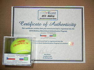 2012 US Open Mixed Doubles CHAMPIONSHIP POINT - Actual Final Ball - Meigray LOA