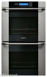"""MOV230S-Dacor 30"""" Double Electric Wall Oven, Vertical Glass Stainless Steel NEW!"""