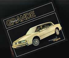 1986 Oldsmobile GRANDE NINETY EIGHT 98  Brochure Sheet, Flyer, WK1