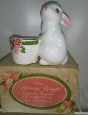 Bunny Bright ceramic Avon candle holder Iob vintage animal rabbit Iob