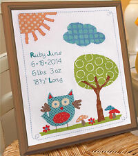 Cross Stitch Kit ~ Plaid-Bucilla Woodland Baby Birth Record #46187