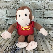 """Curious George Red Shirt Applause 11.5"""" Tall Stuffed Animal Plush Doll"""
