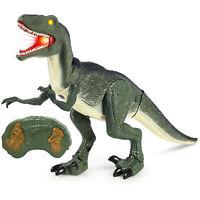 BCP 21in Kids Walking Remote Control Velociraptor Dinosaur Toy w/ Lights, Sound