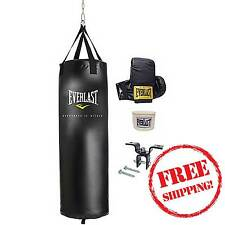 Everlast 70 lbs Heavy Bag Kit with wraps & gloves boxing Mma punching training