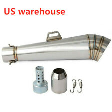 Universal Exhaust Muffler Pipe w/DB Killer for Motorcycle ATV Exhaust 38~51mm US