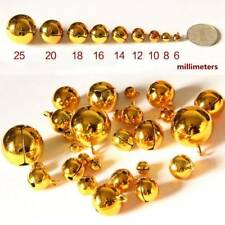 Gold Jingle Bell Brass Metal Beads Fit Festival Jewelry Making Christmas Decor