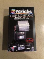 Nishika 3010 3D Stereo Camera Twin Light Flash NEW IN BOX For Nishika N8000