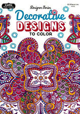 Adult Coloring Book - Designer Series - Decorative Designs to Color - NEW -