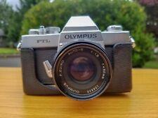 Olympus FTL 35mm SLR & 50mm f1.8 Zuiko with Original Case.