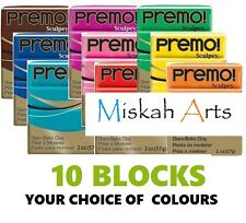 Sculpey PREMO -  Polymer Clay - 57g  - 10 BLOCKS - YOUR CHOICE OF COLOURS