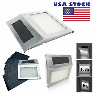 Solar Powered Sign House Door Number Digits LED Light plate Wall Lamp US Stock