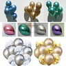"6-50 pcs 12"" Metallic Pearl Chrome Latex Balloons for Wedding Birthday Party  UK"