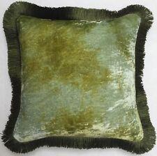 Kissen Anke Drechsel Designer PLAIN Fringe Shaded Mint Pillow Almohada Cushion