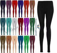 Womens Legging Ladies Plain Stretchy Viscose Full Length Leggings Plus Size 8-26
